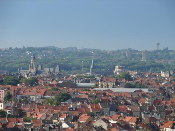 Photographie de Eduardo Diaz Santo (bloggeur tennoodois), qui offre un point de vue spectaculaire sur Schaerbeek